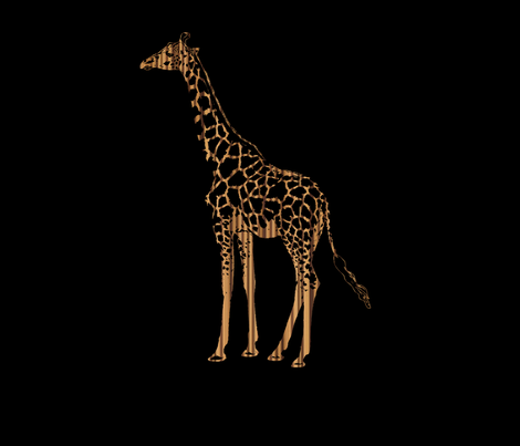 Zebrawood Giraffe for Pillow fabric by eclectic_house on Spoonflower - custom fabric