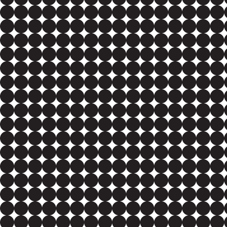 Black on White Circles Dots Spots Graphic _Miss Chiff Designs fabric by misschiffdesigns on Spoonflower - custom fabric