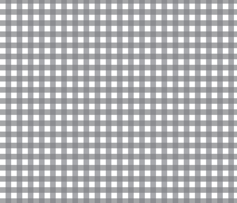 Traditional Classic Check Gingham || White and Gray grey Neutral Home Decor Tartan _ Miss Chiff designs fabric by misschiffdesigns on Spoonflower - custom fabric