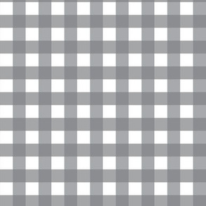 Traditional Classic Check Gingham || White and Gray grey Neutral Home Decor Tartan _ Miss Chiff designs