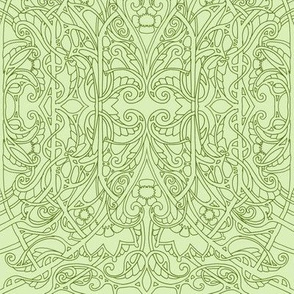 Simple Olive Green Paisley Twister #5973003