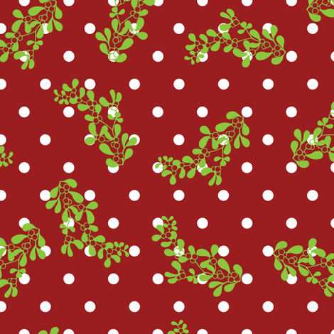 Holiday Dot fabric by kfrogb on Spoonflower - custom fabric