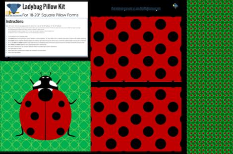 Ladybug_Pillow fabric by blue_dog_decorating on Spoonflower - custom fabric