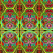 Aztec Gato Caliente- Pop Art Sugar Skull-ed-ed