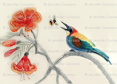 Jenoiserie_Tropical_bee_eater1