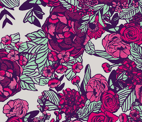 Grams Peonies fabric by brittany_vogt on Spoonflower - custom fabric