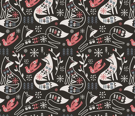 Foxy Folk fabric by limegreenpalace on Spoonflower - custom fabric