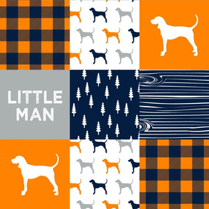 Little Man || custom orange coonhound