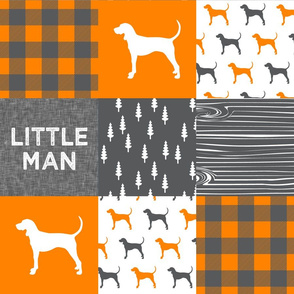 Little Man || grey custom orange coonhound