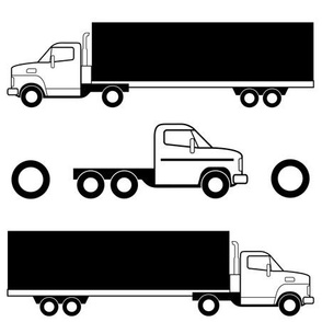 Black and White Truck Fabric