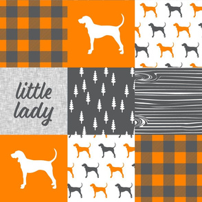 Little Lady || custom orange and grey coonhound
