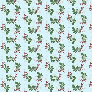 Mistletoe & Ribbons XSMALL- snow coastal