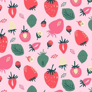 Strawberry On Pale Pink