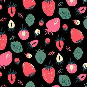 Strawberry on Black
