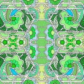 Paisley Leaf Greens