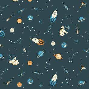 Lil Pixel Astronaut Pattern