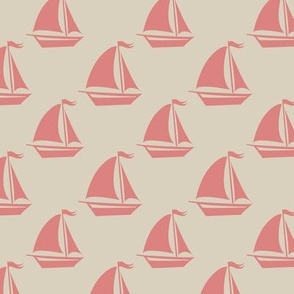 Pink Sailboats