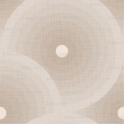 Linen Cream Circles_Miss Chiff Designs