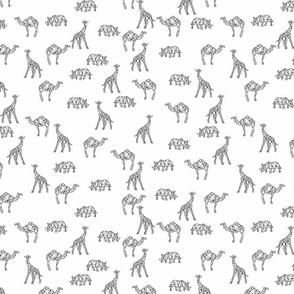 geometrical animals