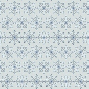 Star Tiles Blue on Grey