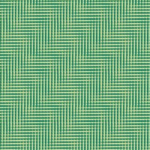 glitchy green-gold plaid