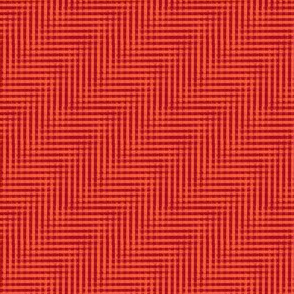 glitchy ruby-red plaid