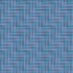 glitchy mad teal and lilac plaid