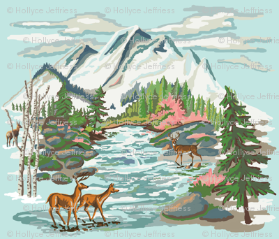 Paint by Number Mountain Meadow 2