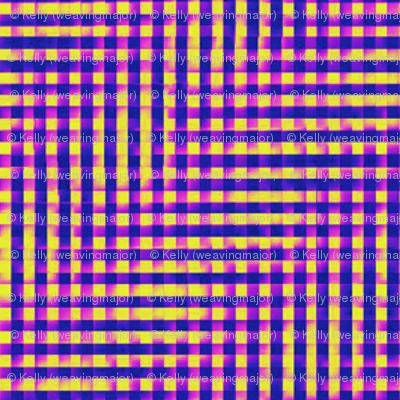 glitchy purple-pink-yellow plaid