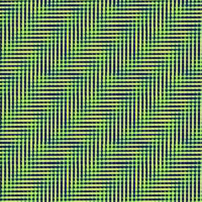 glitchy black - blue - green - yellow plaid