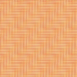 glitchy orange creamsicle gingham