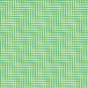 botanical glitchy plaid - aqua and lime