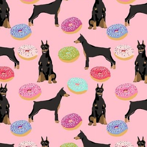 doberman dog fabric doberman pinscher blossom pink pizza fabric