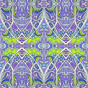 Purple Gets Even With Green