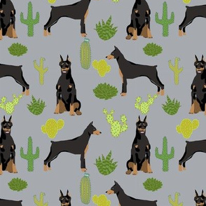 doberman dog fabric doberman pinscher quarry grey cactus fabric
