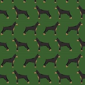 doberman dog fabric doberman pinscher garden green fabric