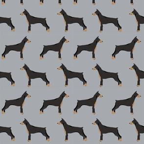 doberman dog fabric doberman pinscher grey fabric