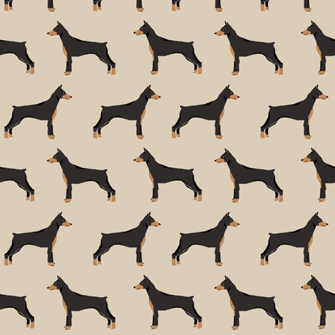 doberman dog fabric doberman pinscher sand fabric fabric by petfriendly on Spoonflower - custom fabric