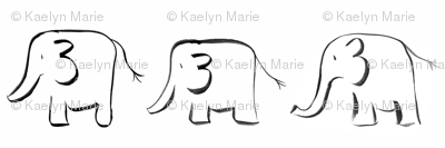 elephants // white