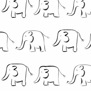 elephants // white