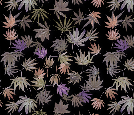 Frosted  Ganja  Glass fabric by camomoto on Spoonflower - custom fabric