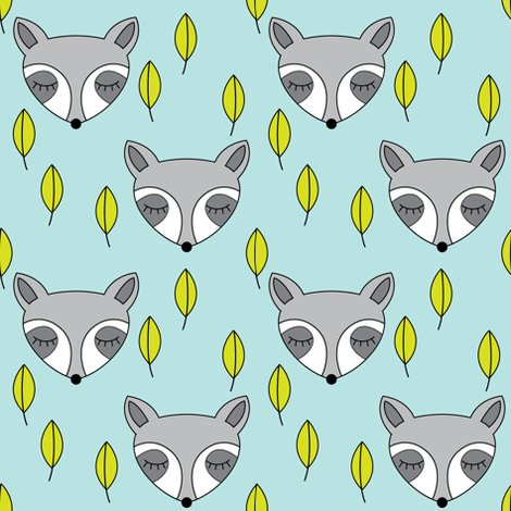 Rraccoon-sleeping-and-leaves-on-soft-blue_shop_preview