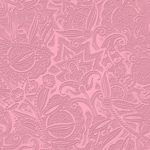Embossed Paisley - Pink