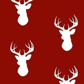 Deer- white/scarlet