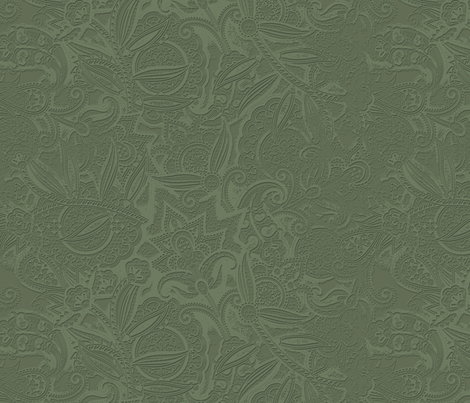 Embossed Paisley - Olive fabric by meganpalmer on Spoonflower - custom fabric