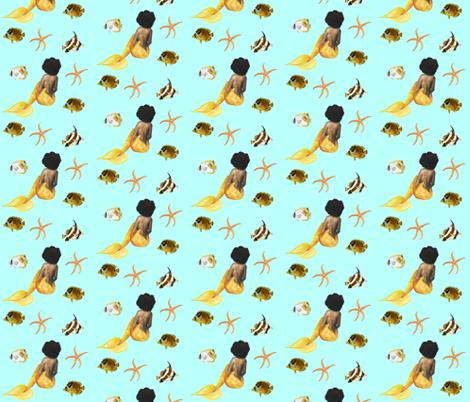 Afro_Mermaid African American fabric by tarak on Spoonflower - custom fabric