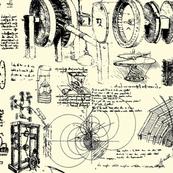 Da Vinci's Sketch Book // Parchment