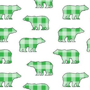 Gingham Bears // Green // Sylvan Shoppe Collection