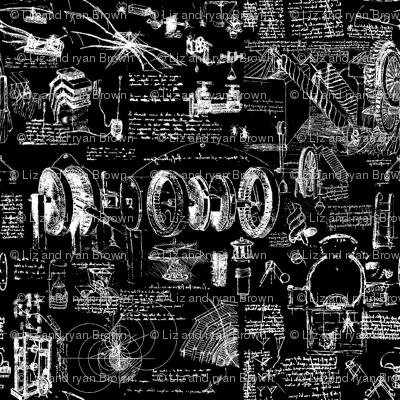 Da Vinci's Sketchbook // Black // Small