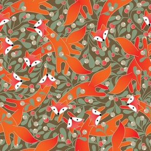 Foxes in Mistletoe